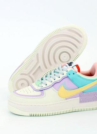 Nike air force 1 low шикарные женские кроссовки разноцветные