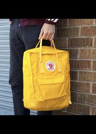 Рюкзак канкен желтый/ женский мужской портфель kanken classic