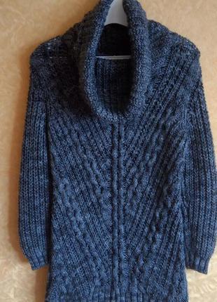 Теплый вязаный свитер туника/супер цена/распродажа