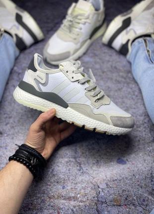 Шикарные мужские кроссовки adidas nite jogger кожа