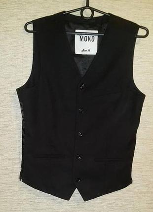 Мужская классическая костюмная жилетка бренд mono