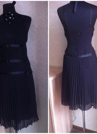 Платье сарафан morgan черное  новое вечернее нарядное шифон4