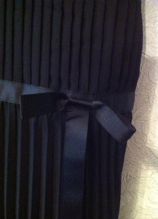 Платье сарафан morgan черное  новое вечернее нарядное шифон3