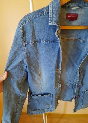 Джинсовый пиджак лёгкая куртка