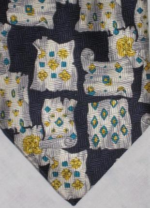 Шелковый галстук принт