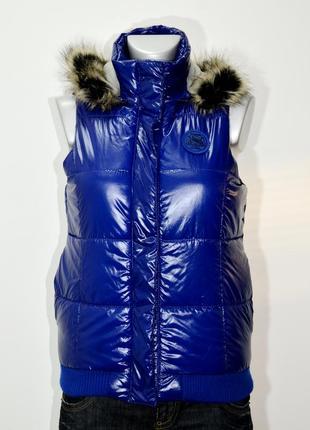 Женская теплая безрукавка с капюшоном chicoree. код 35
