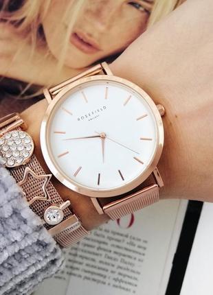 Часы годинник и браслет набор rosefield в упаковке