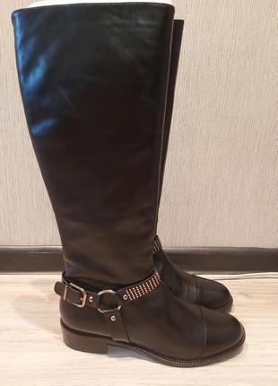 Via spiga оригінал, фірмові шкіряні чоботи.