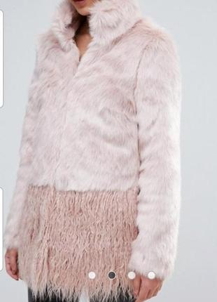 Шуба куртка пальто искусственная лама lipsy