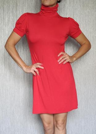 Тоненькое платье new look под горло