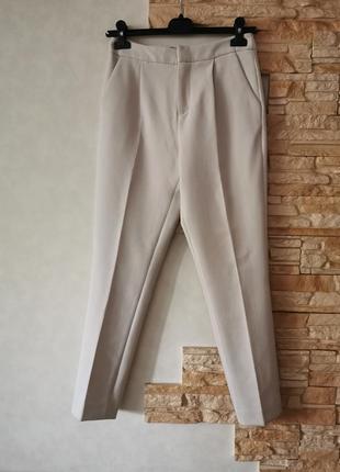 Брендовые качественные шерстяные нюдовые брюки tony cohen