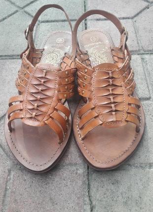 Плетеные балетки-сандали из натуральной кожи!
