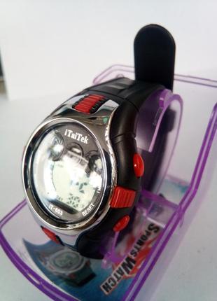 Детские влагозащищенные электронные часы itaitek it-653