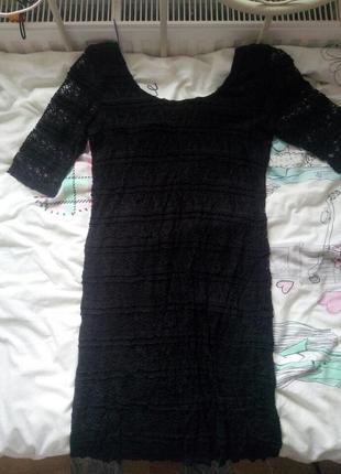 Круживное облегающие платье