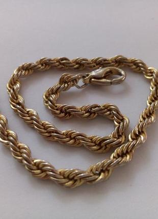 Браслет korea, позолота ( плетение), крупная цепочка, на застежке на руку, винтаж