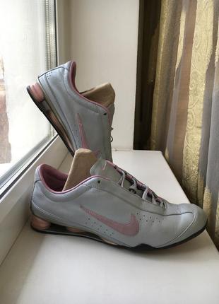 Кожаные спортивные кроссовки кеды nike