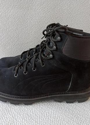 Теплые ботинки puma desierto fun полностью выполнены из натуральной кожи нубук