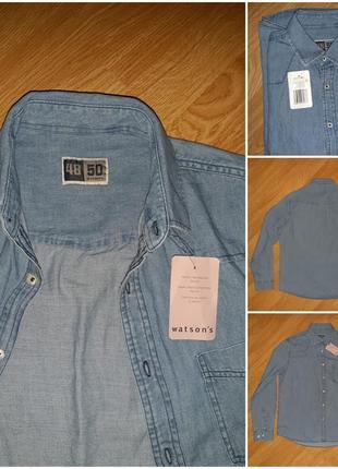 Мега крутая джинсовая рубашка для мужчин германия watsons размер м 48/50 европейский