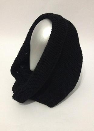Новый черный шарф хомут на зиму