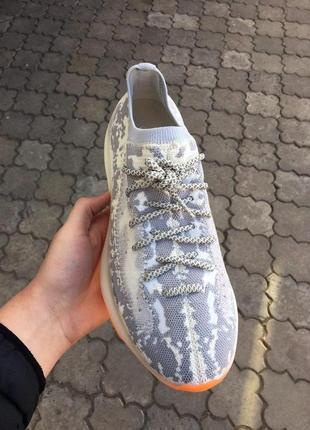 Шикарные мужские кроссовки adidas yeezy boost 380 v3 alien grey текстиль