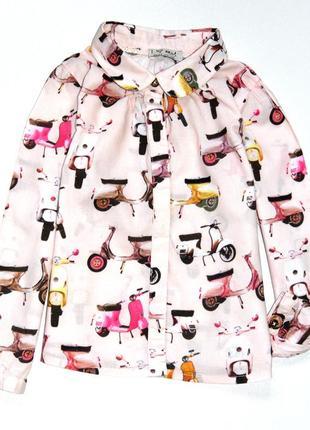 Next .модная блуза со скутерами. 2-3 года. рост 98 см