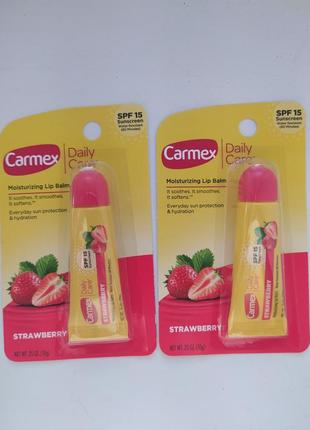 Carmex бальзам для губ клубника spf15