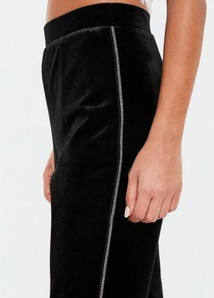 🔥  total sale 🔥премиум вельветовые брюки высокой посадки со вставкой бисера peace&love