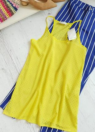Желтая яркая блуза туника zara.