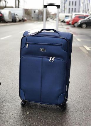 Акция/супер цена/чемодан большой текстильный 4 колеса/валіза текстильна велика 4 колеса