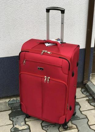 Акция/чемодан большой текстильный 4 колеса/валіза текстильна велика 4 колеса