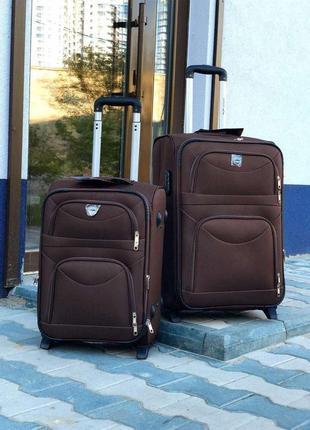 Акция/чемодан большой текстильный 2 колеса/валіза текстильна велика 2 колеса