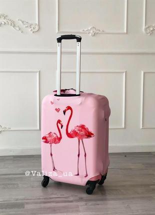 Чехол с принтом фламинго из микродайвинга для чемодана/чохли принтовані для валізи