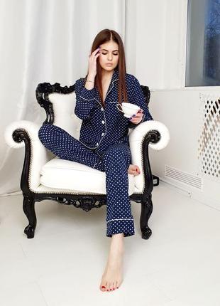 Красивая пижама пижамный костюм в горошек