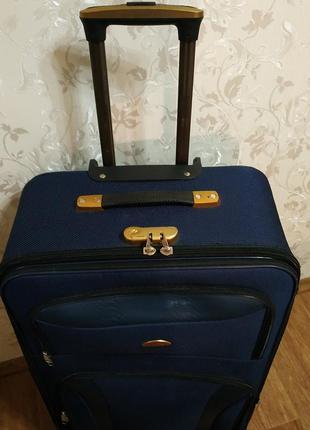 Дорожня валіза на 4 колесах чемодан дорожная сумка на четырёх колёсах