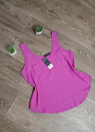 Яркая красивая блуза/майка цвета фуксии dorothy perkins. размер 12/40. сток!