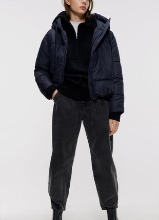 Куртка пуховик бомбер zara размер s