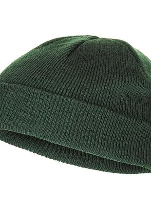 Шапка вязаная короткая mfh тёмно-зеленая