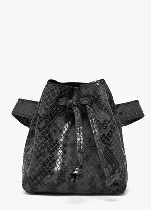 Only новая стильная поясная женская сумка кисет рептилия на пояс