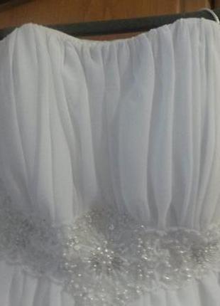 Короткое свадебное или выпускное платье )