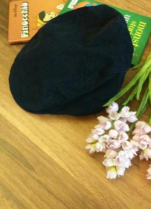Стильная велюровая кепка для модника на 1-3 года.