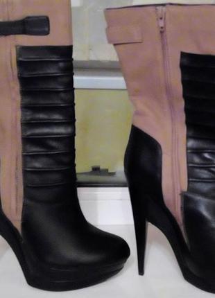 Ботильоны ботинки braska 38 размер кожа