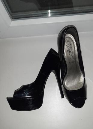 Туфли с открытым носком new look