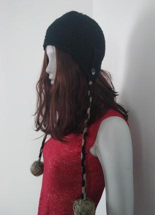 Теплая шапка colin's на флисе с бубонами