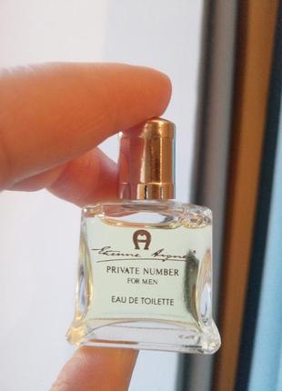 Винтажная миниатюра private number for men etienne aigner, туалетная вода, 5 мл