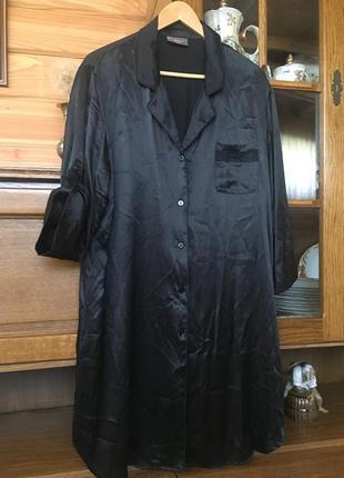 Jjb benson-платье рубашка в пижамном стиле 100% шелк