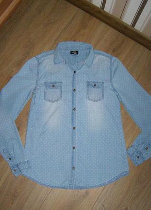 Рубашка из тонкого денима