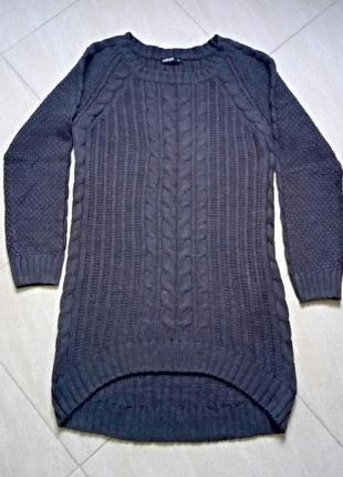 Вязаное платье,свитер,туника объемная оверсаз ,теплая,универсальная модель