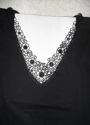 Чёрная трикотажная  футболка размер 36
