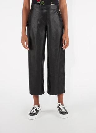 Модные широкие брюки из искусственной кожи италия tezenis