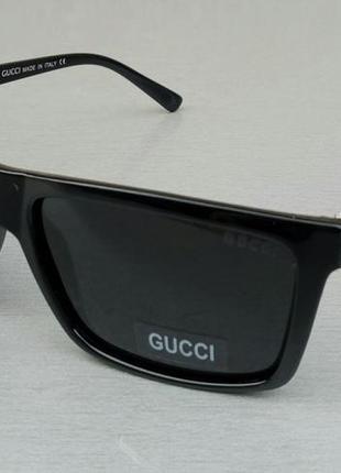 Gucci очки мужские солнцезащитные черные поляризированые